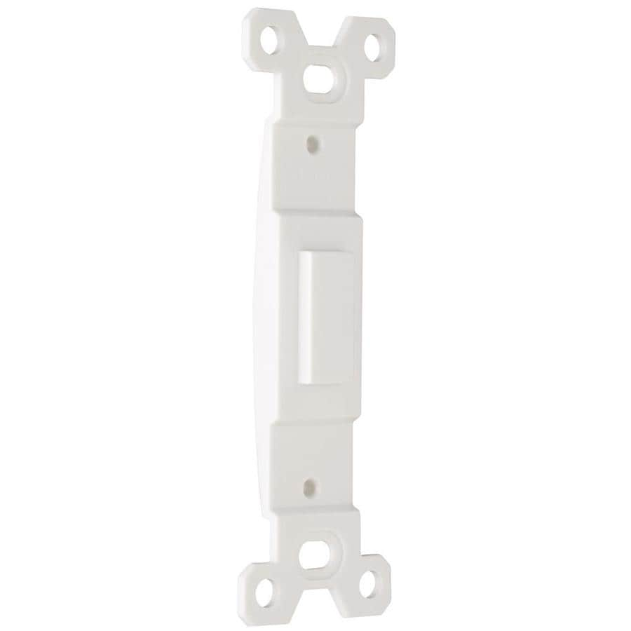legrand 1gang white single toggle wall plate insert