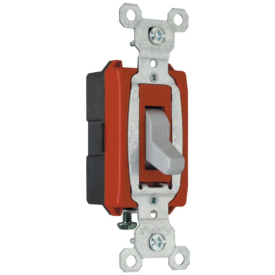 Legrand 15/20-Amp Single Pole Gray Toggle Indoor Light Switch