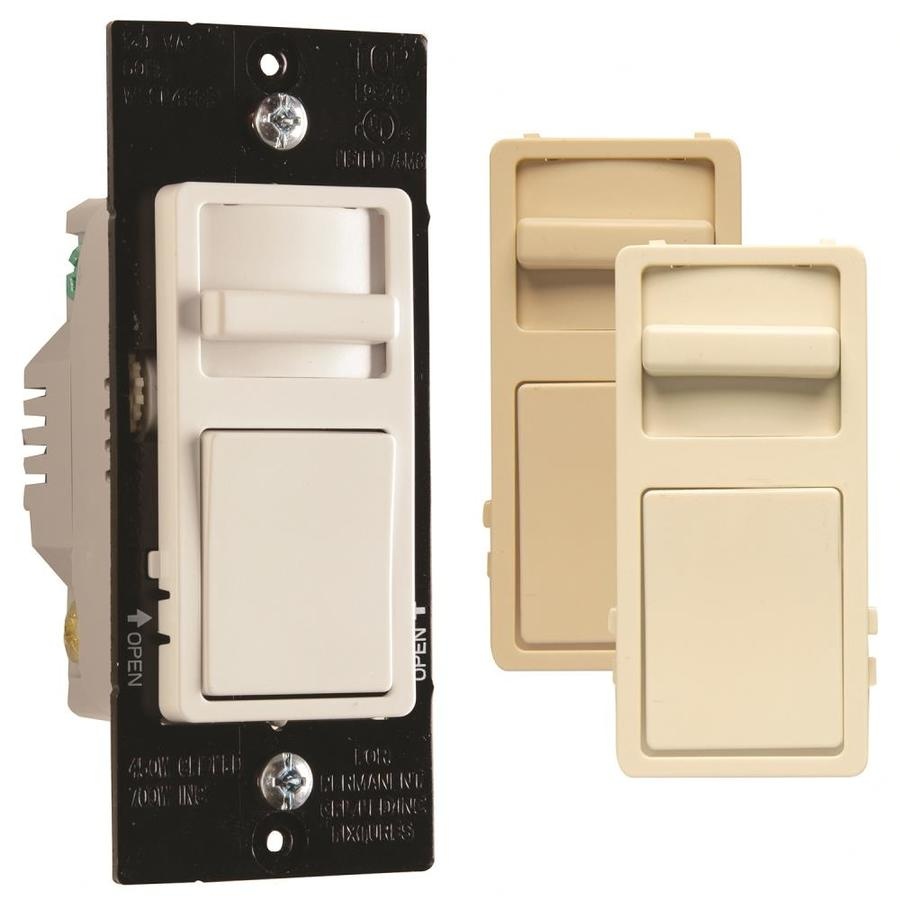 Legrand 450-watt Single Pole 3-way White/light almond/ivory Slide Indoor Dimmer