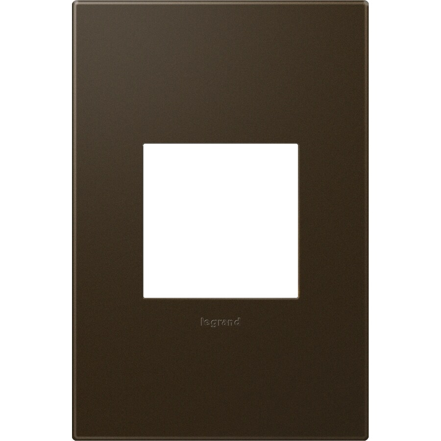 Legrand adorne 1-Gang Bronze Single Square Wall Plate