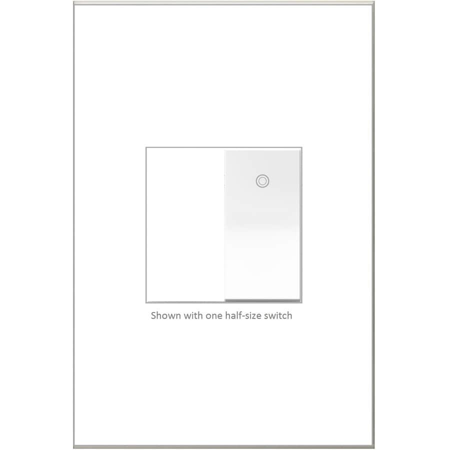 Legrand Adorne Paddle 15-amp Single Pole 3-way White Rocker Indoor Light Switch