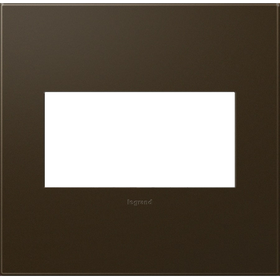 Legrand adorne 2-Gang Bronze Double Square Wall Plate