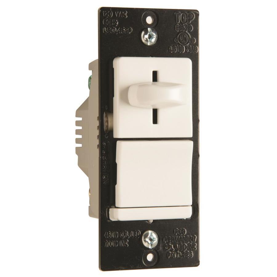 Legrand 450-Watt Single Pole 3-Way White Slide Indoor Dimmer