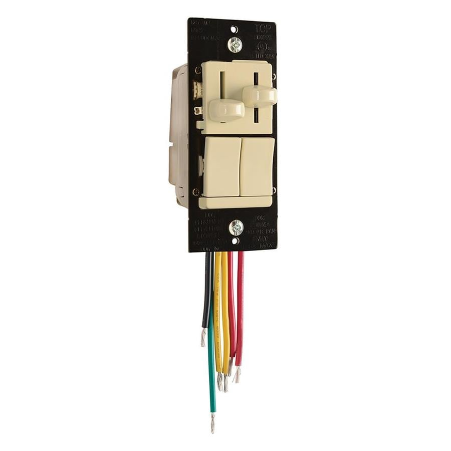 Legrand 3 Way Slide Combination Led Dimmer Fan Control
