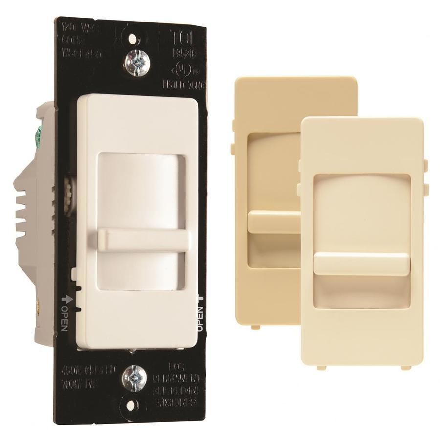 Legrand 450-Watt Single Pole 3-Way White Indoor Slide Dimmer