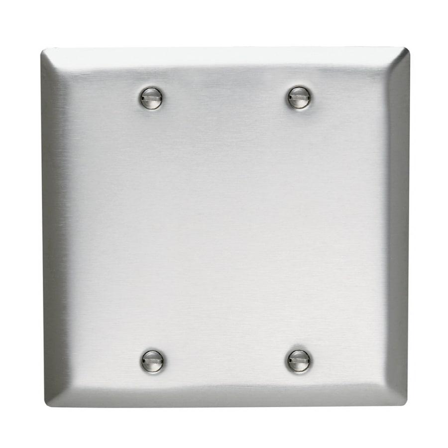 Pass & Seymour/Legrand 2-Gang Stainless Steel Blank Wall Plate