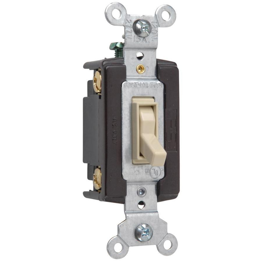 Shop legrand 15 20 amp single pole 4 way ivory toggle for Bathroom 15 or 20 amp