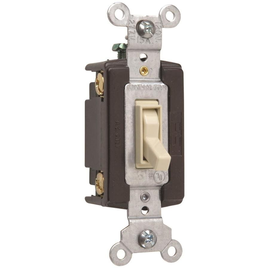 Shop Legrand 1520amp Single Pole 4way Light Almond Toggle - 4 Way Rocker Light Switch