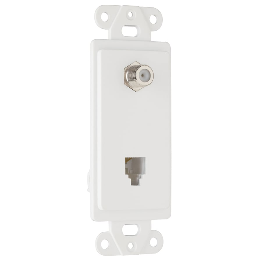 Legrand Thermoplastic F-Connector Wall Jack