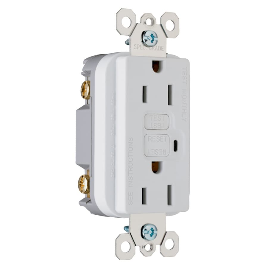 Pass & Seymour/Legrand 3-Pack 15-Amp 125-Volt White GFCI Decorator Electrical Outlet