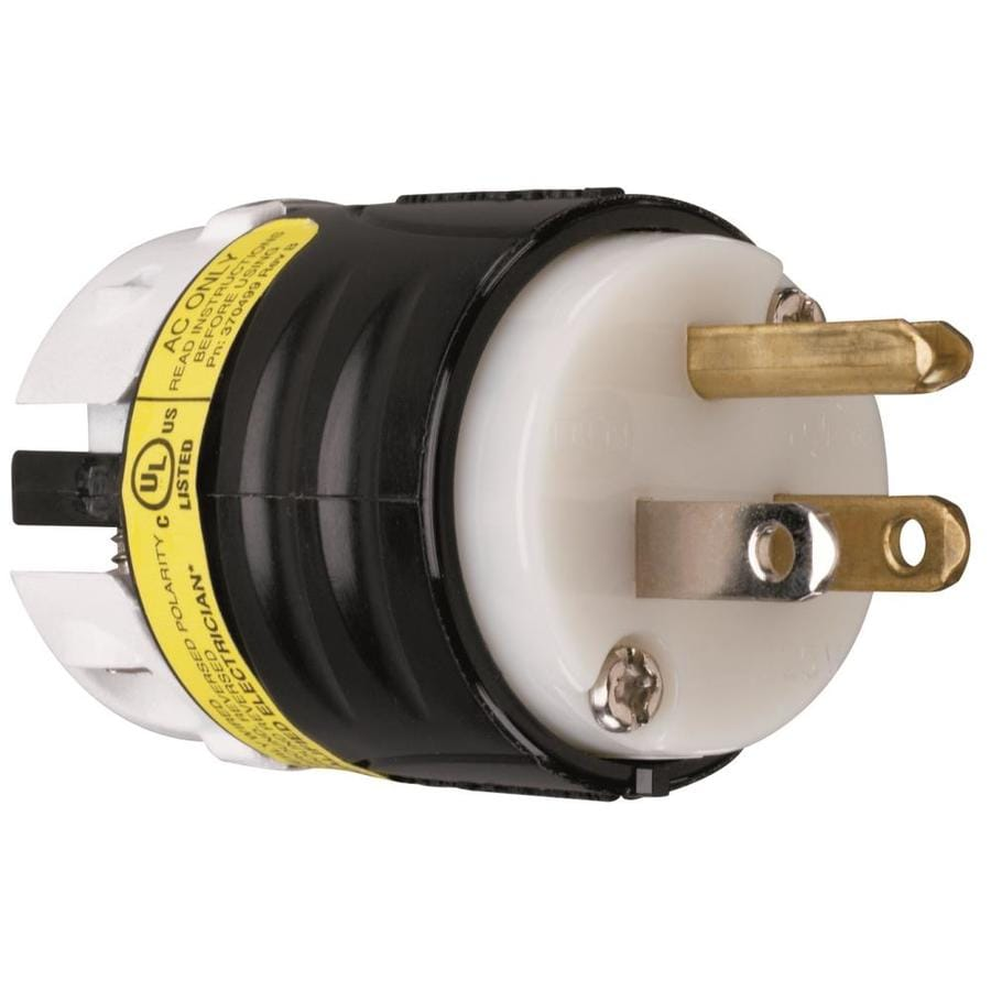 Pass & Seymour/Legrand 15-Amp 125-Volt Black/Yellow/White 3-Wire Grounding