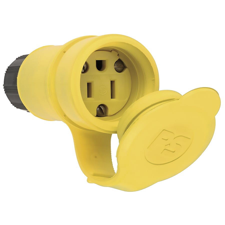 Pass & Seymour/Legrand 15-Amp 125-Volt yellow 3 wire watertight connector