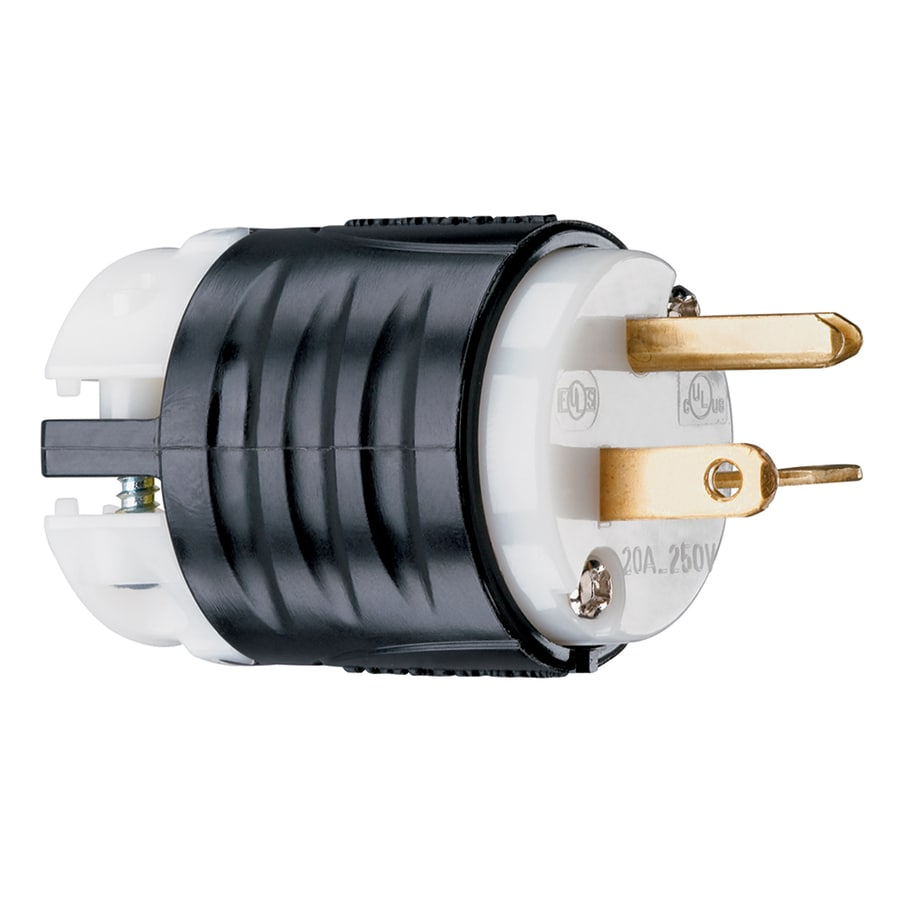 Shop Electrical Plugs Connectors At Replace Wiring House Pass Seymour Legrand 20 Amp 250 Volt Black White 3