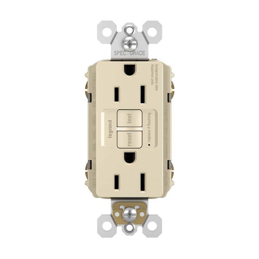 Legrand Radiant 15-Amp 125-Volt Light Almond Indoor GFCI Decorator Wall Outlet