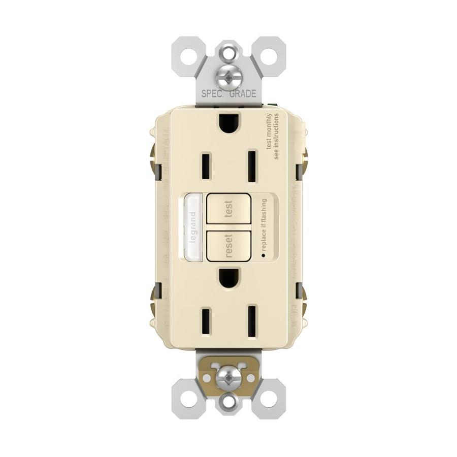 Legrand Radiant 15-Amp 125-Volt Light Almond Indoor GFCI Decorator Wall Tamper Resistant Outlet