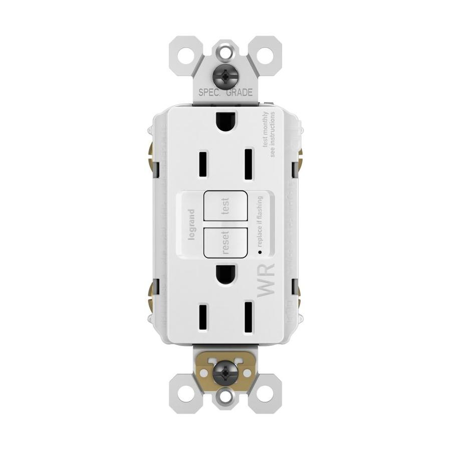 Outdoor Kitchen Electrical Outlet For Home Design Great: Legrand Radiant White 15-Amp Decorator Tamper Resistant