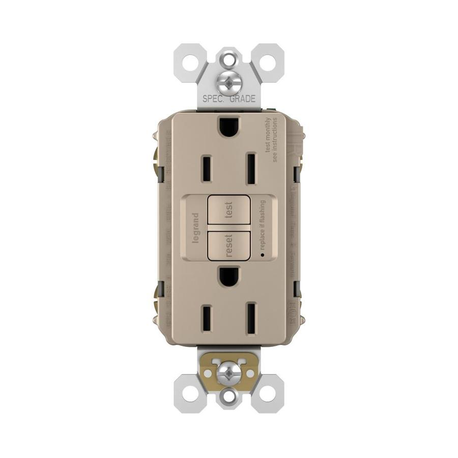 Legrand Radiant 15-Amp 125-Volt Nickel Indoor GFCI Decorator Wall Tamper Resistant Outlet