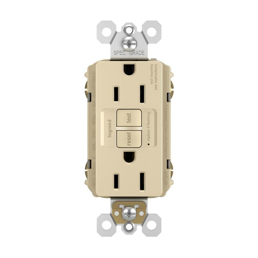 Legrand Radiant 15-Amp 125-Volt Ivory Indoor GFCI Decorator Wall Outlet