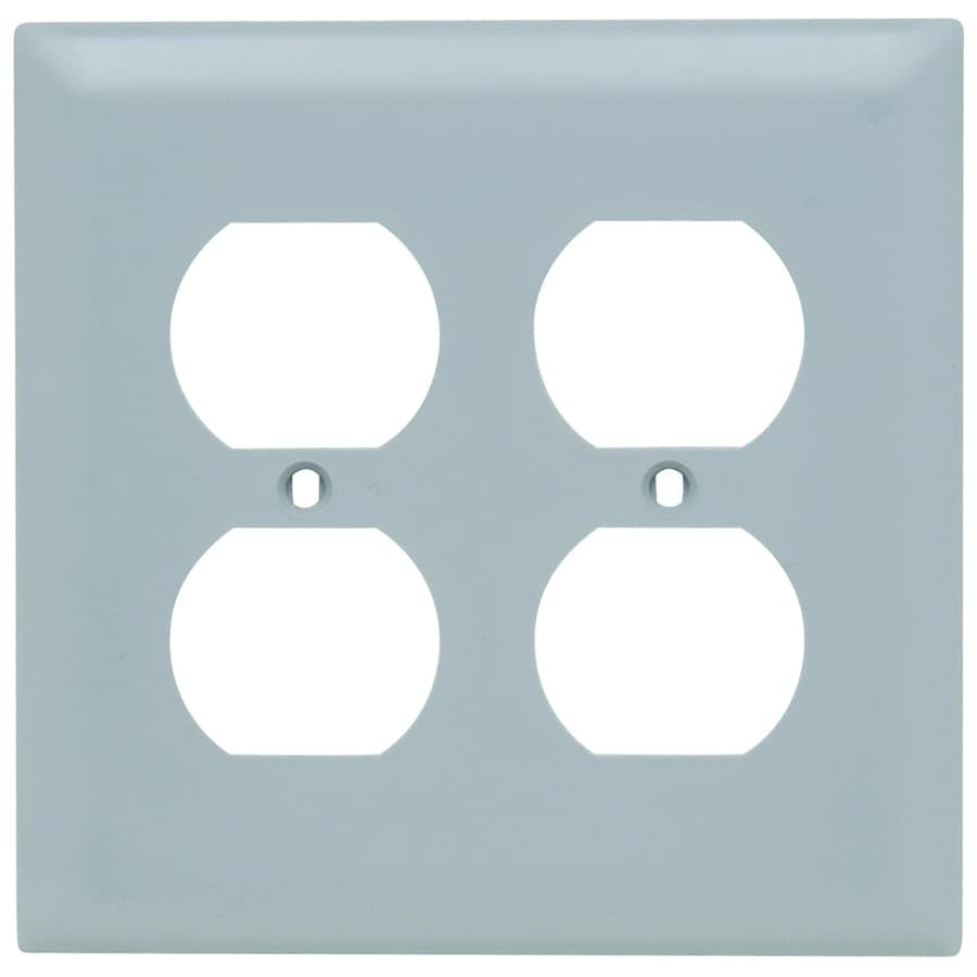 Legrand Trademaster 2-Gang Gray Double Duplex Wall Plate