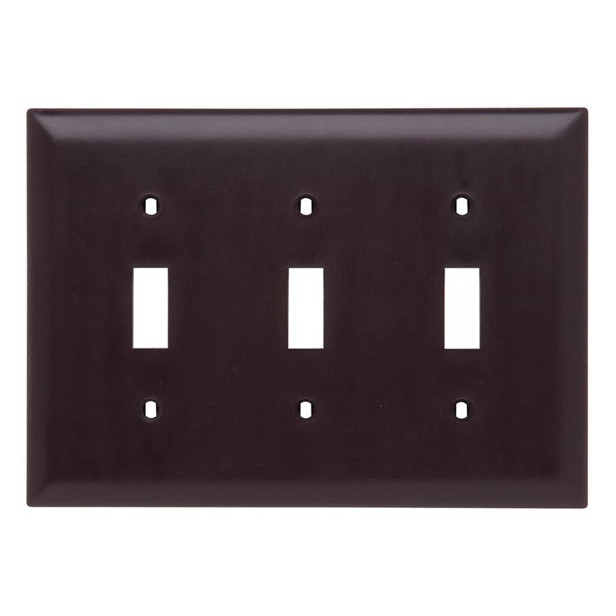 Legrand Trademaster 3-Gang Light Almond Triple Toggle Wall Plate