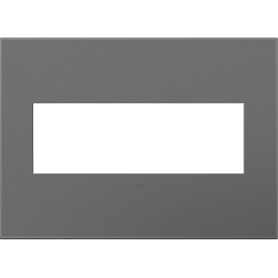 Legrand adorne 3-Gang Magnesium Triple Square Wall Plate
