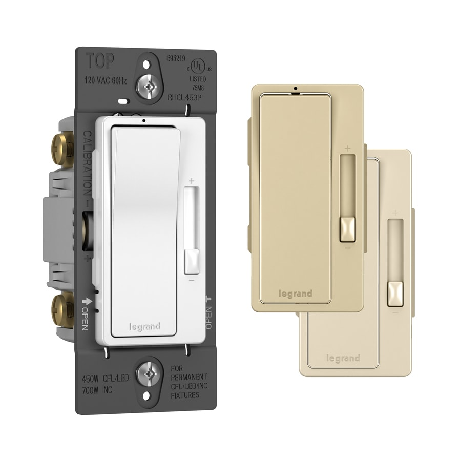 Shop Legrand Radiant Watt Single Pole Way WhiteLight Almond - What is 3 way dimmer switch