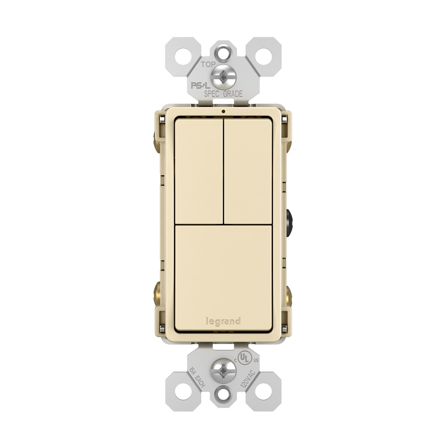 Shop Legrand Two Single Pole Switches and Single Pole/3-WAY Switch ...