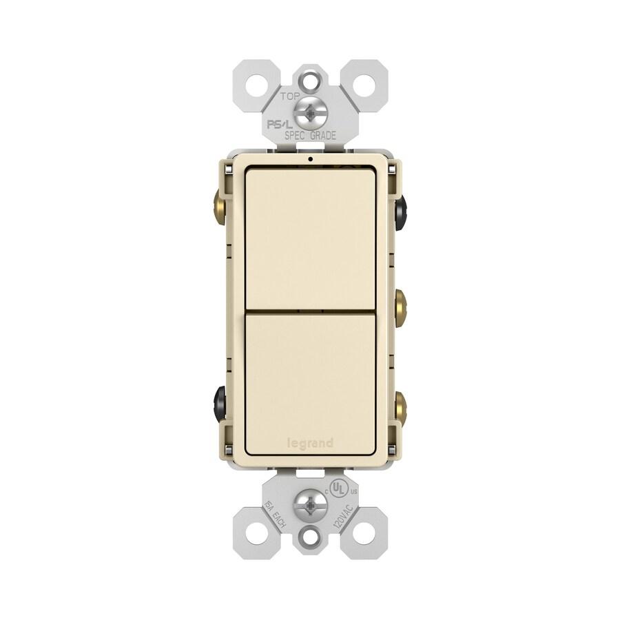 Legrand Radiant 15 Amp 3 Way Light Almond Combination Switch