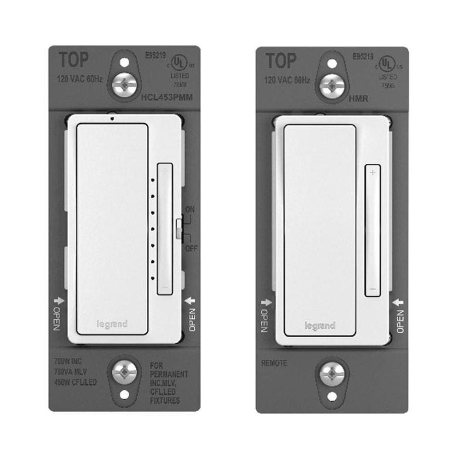 Legrand radiant 2-Pack  450-watt Single Pole 3-way White Rocker Indoor Dimmer