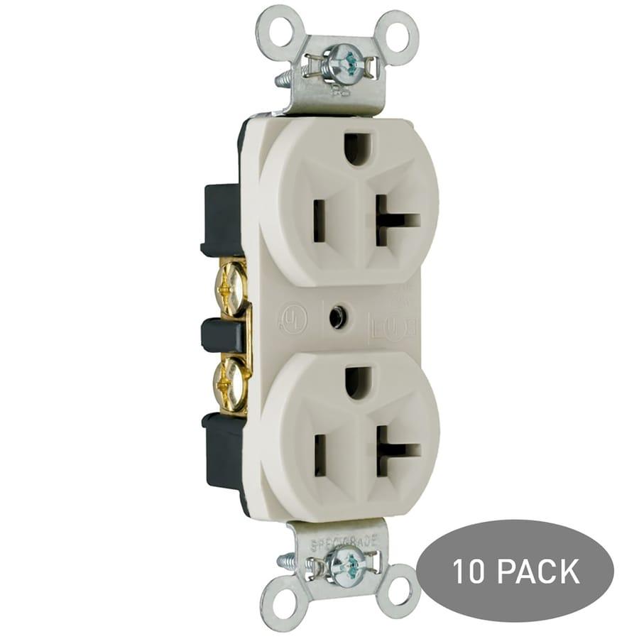 Legrand 10-Pack 15-Amp 125-Volt Light Almond Indoor Duplex Wall Outlet