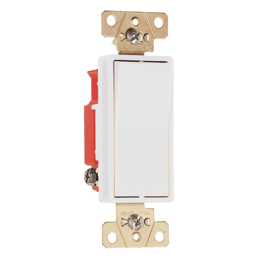 Legrand 15/20-Amp Single Pole White Indoor Rocker Light Switch