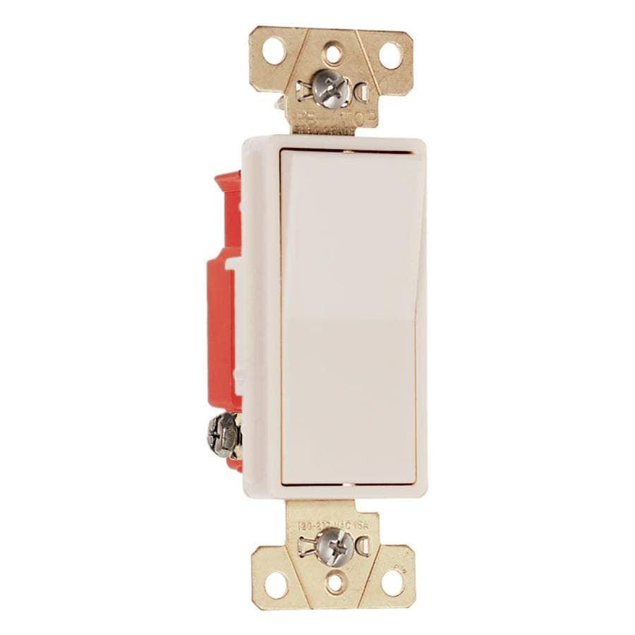 Legrand 15/20-amp Single Pole Light almond Rocker Indoor Light Switch
