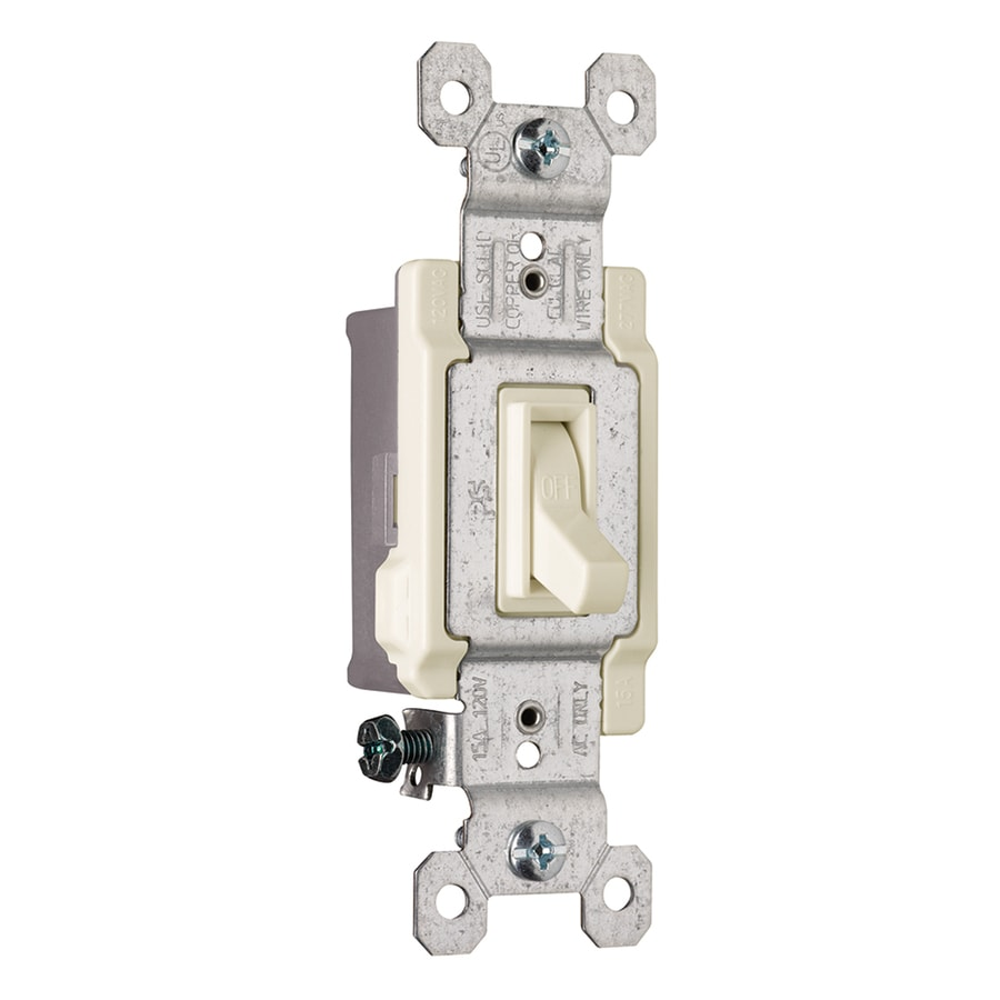 Legrand 15/20-Amp Single Pole Light Almond Indoor Framed Toggle Light Switch
