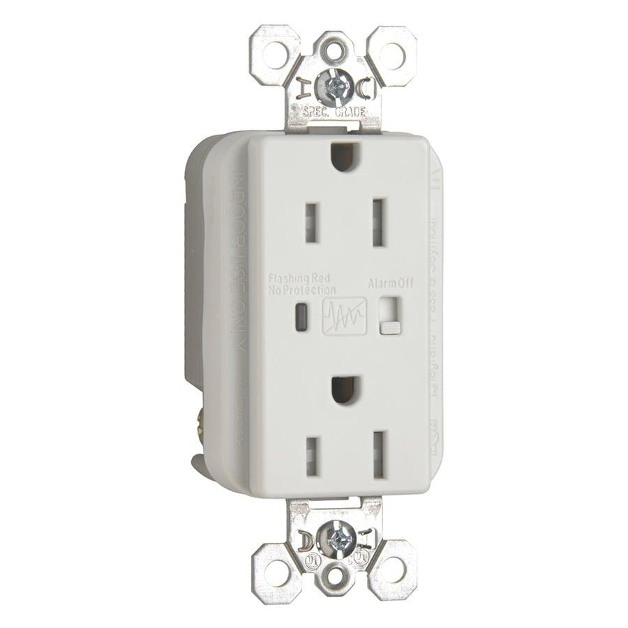 Radiant 15-Amp 125-Volt White Indoor GFCI Decorator Wall Tamper Resistant Outlet