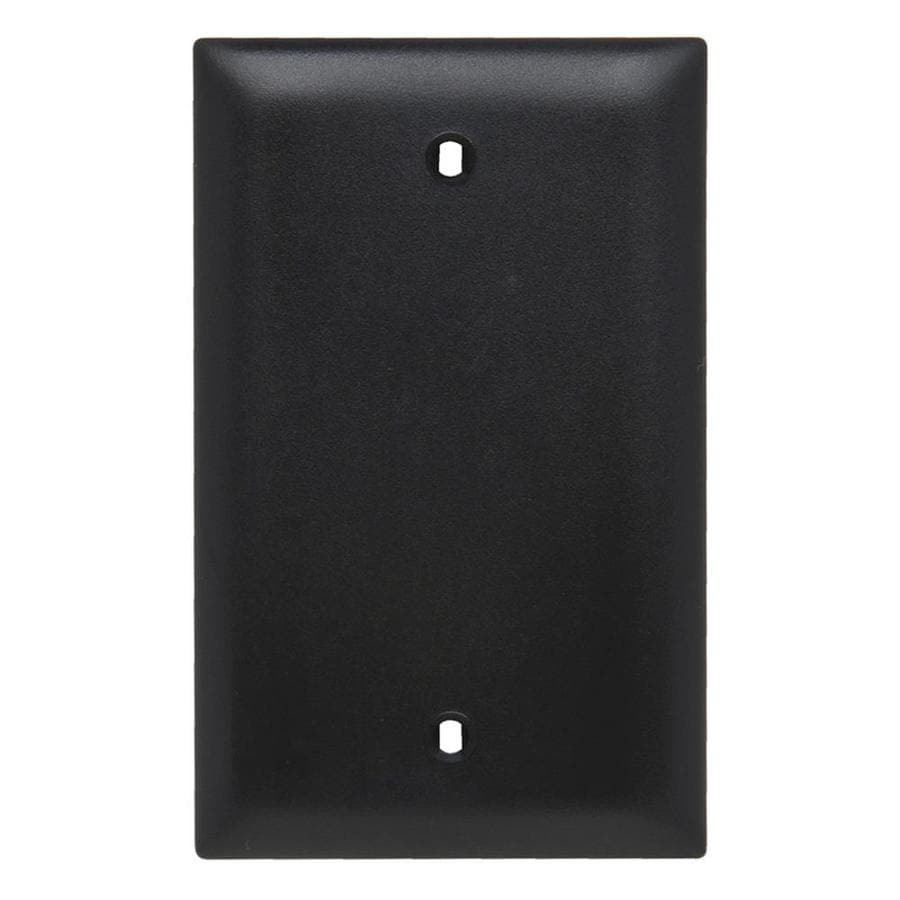 Legrand Trademaster 1-Gang Black Single Blank Wall Plate