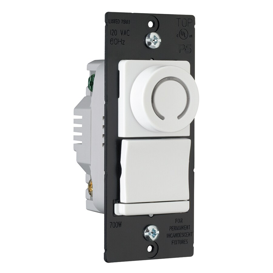 Legrand 450-Watt Single Pole 3-Way White Indoor Rotary Dimmer