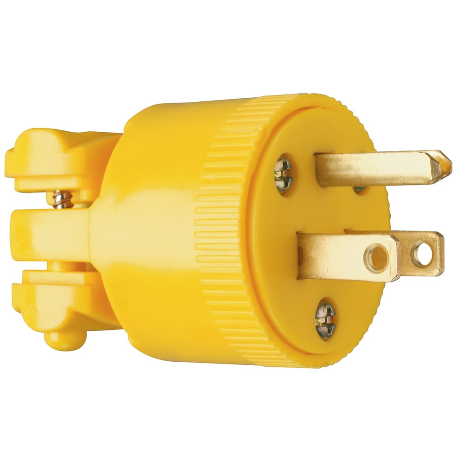Pass & Seymour/Legrand 15-Amp 125-Volt Yellow 3-Wire Grounding Plug