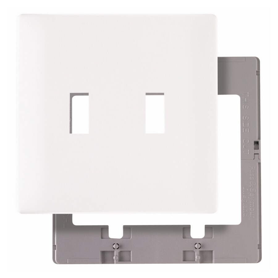 Pass & Seymour/Legrand 1-Gang White Toggle Wall Plate