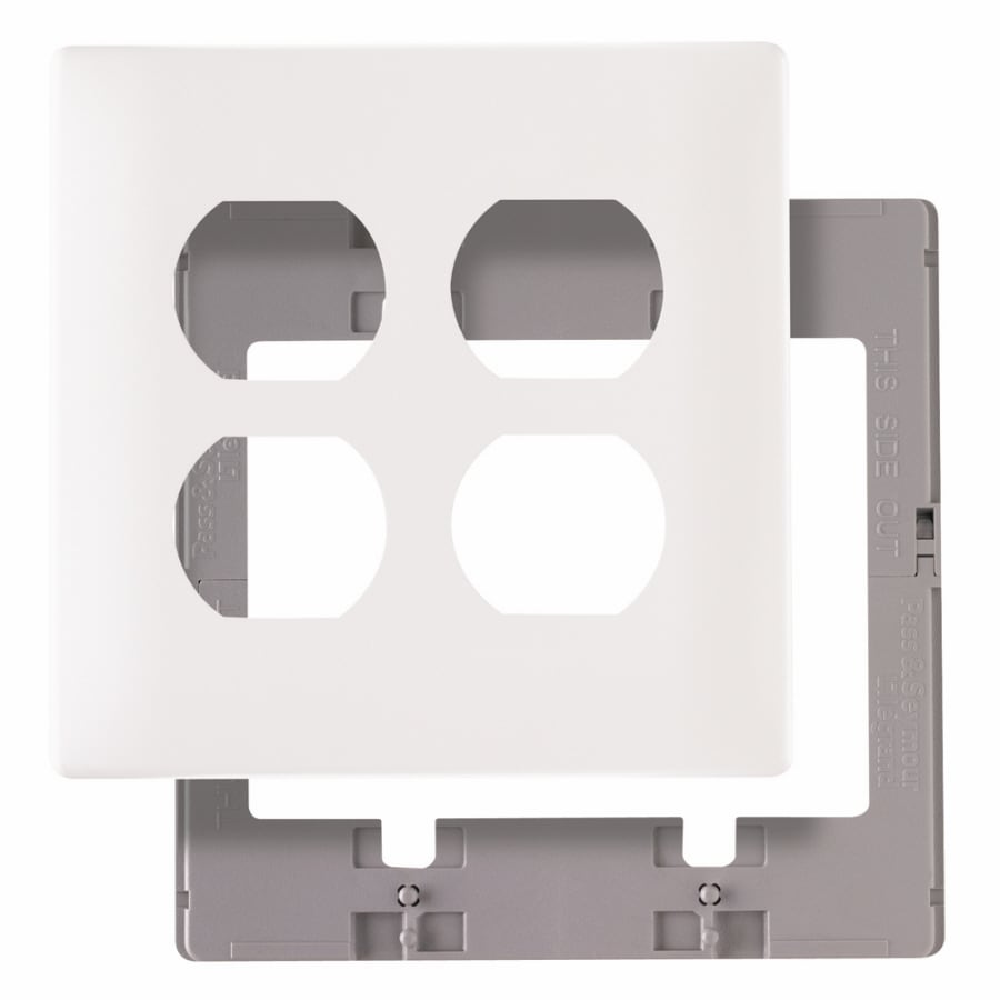 Pass & Seymour/Legrand 2-Gang White Round Wall Plate