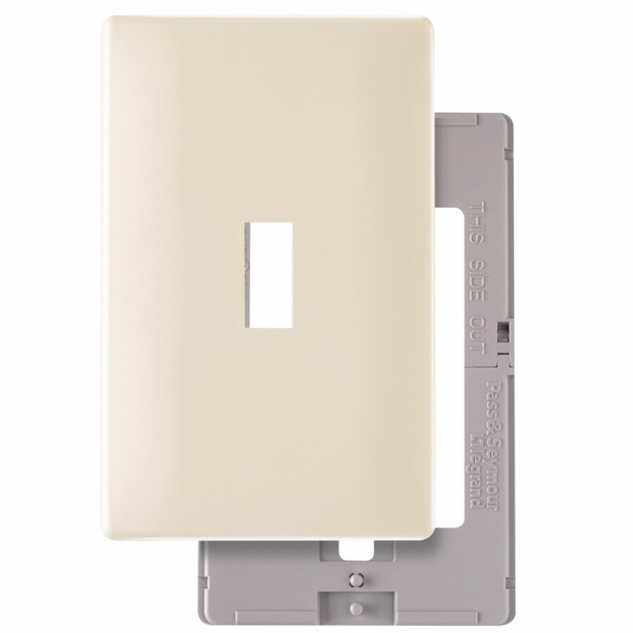 Pass & Seymour/Legrand 1-Gang Light Almond Single Toggle Wall Plate