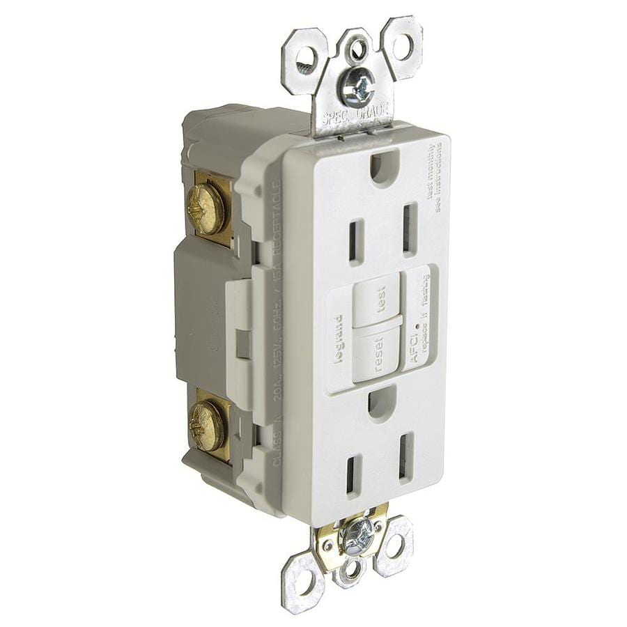 Legrand Radiant 15-Amp 120/125-Volt White Indoor AFCI Decorator Wall Tamper Resistant Outlet