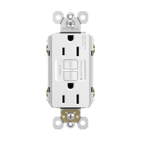Legrand radiant White 15-Amp Decorator Outlet GFCI Residential/Commercial