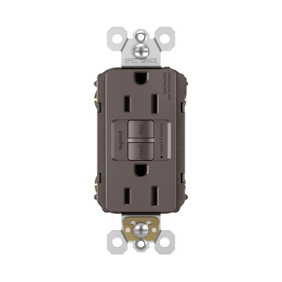 Home Decorators Outlet Locations: Legrand Radiant Brown 15-Amp Decorator Outlet GFCI