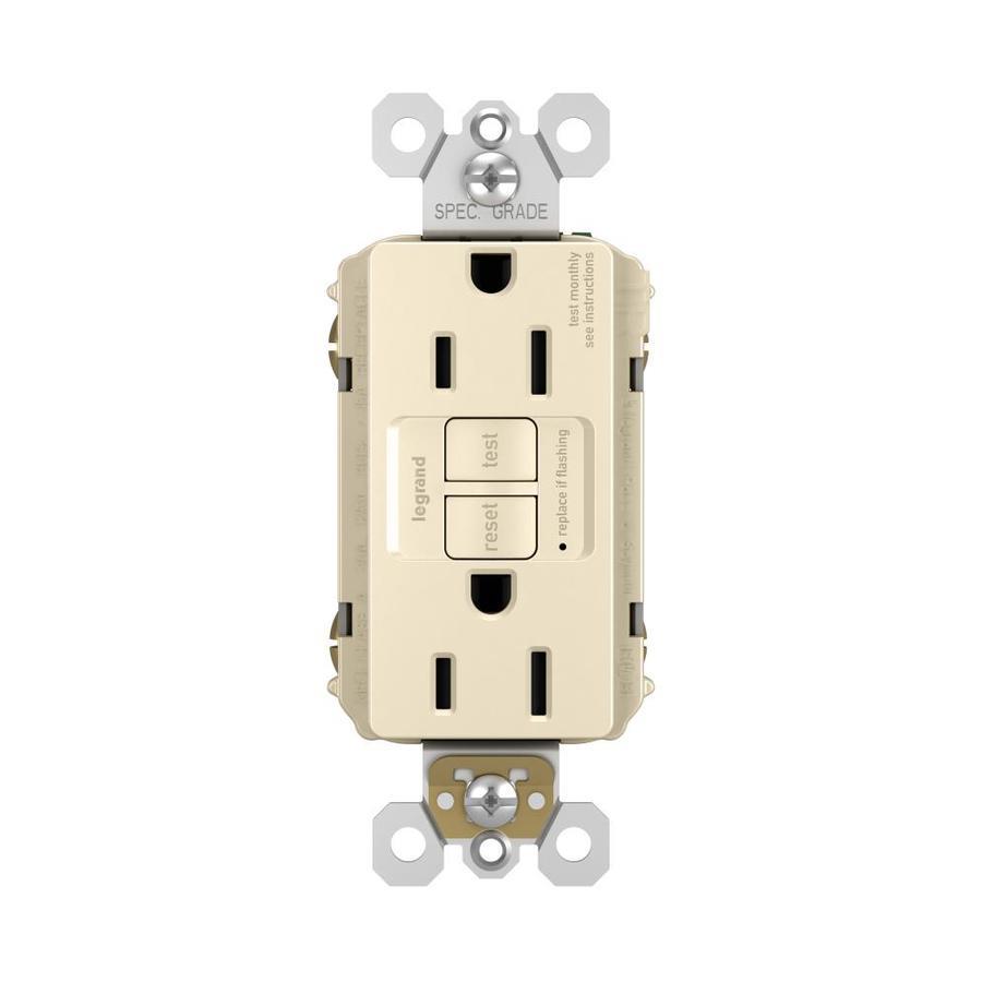 Legrand 15-Amp 125-Volt Light Almond Indoor GFCI Decorator Wall Tamper Resistant Outlet