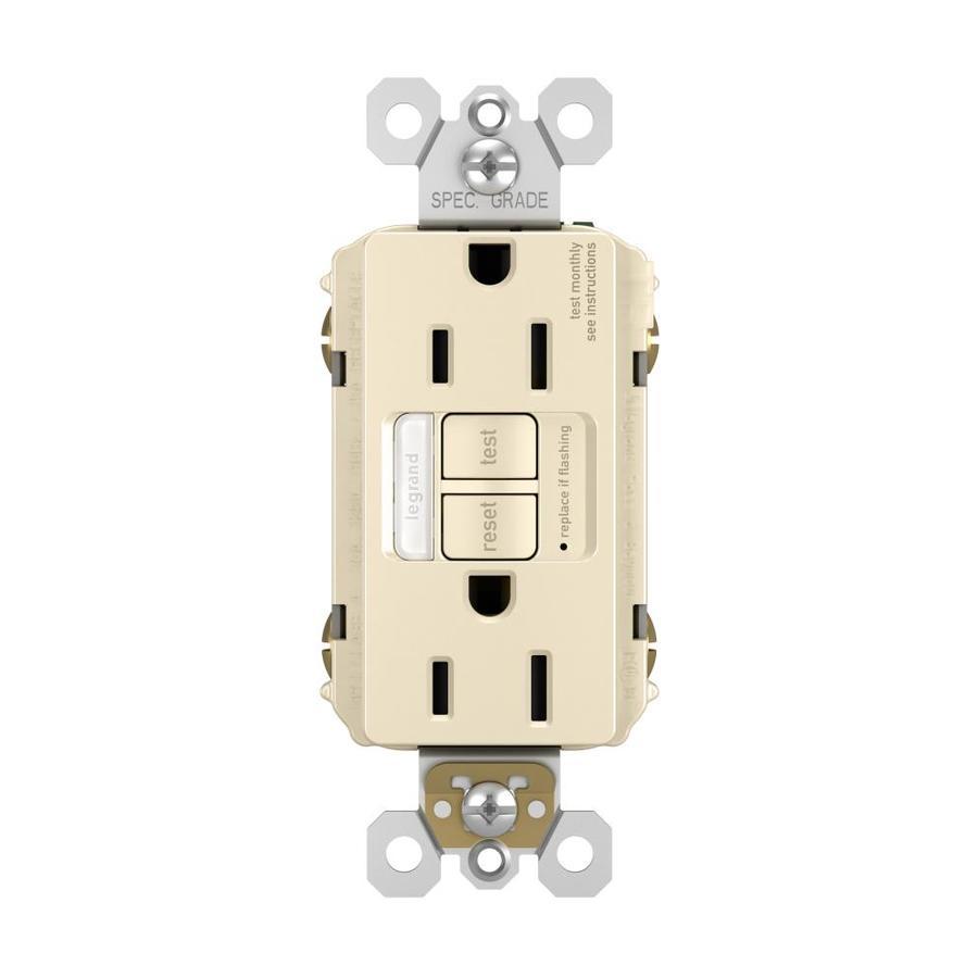 Legrand Radiant Light Almond 15-Amp Decorator Outlet GFCI