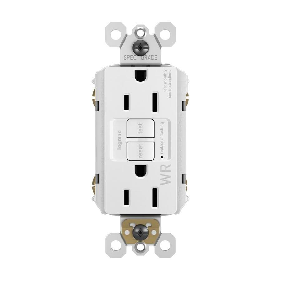 Radiant 15-Amp 125-Volt White Indoor/Outdoor GFCI Decorator Wall Tamper Resistant Outlet