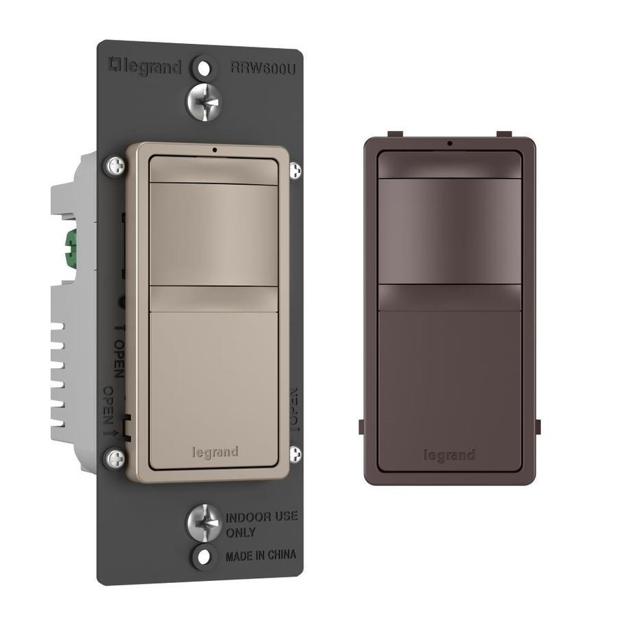 Shop Legrand Radiant Single Pole Nickel Dark Bronze Motion Occupancy Have A 110v Sensor Switch To Replace Regular Light Vacancy