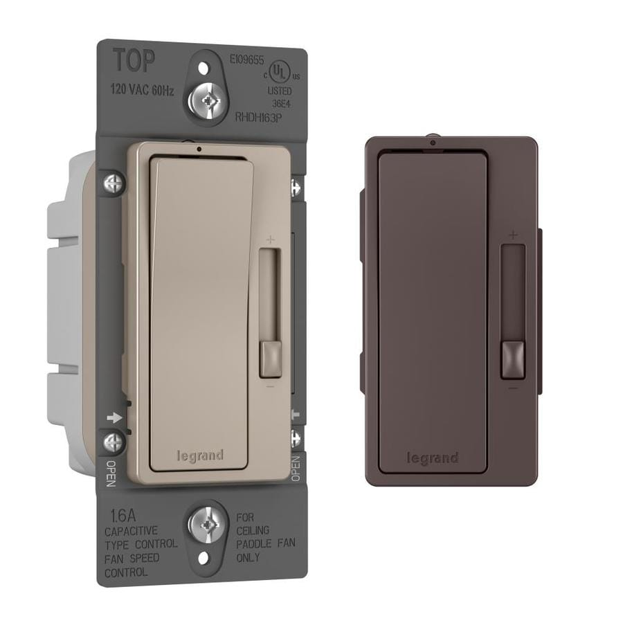 Legrand Radiant 3-Speed 15 Amp Nickel/Dark Bronze Indoor Fan Control