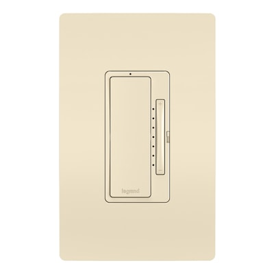 Radiant Smart 700 Watt Single Pole 3 Way Light Almond Illuminated Led Dimmer With Wall Plate