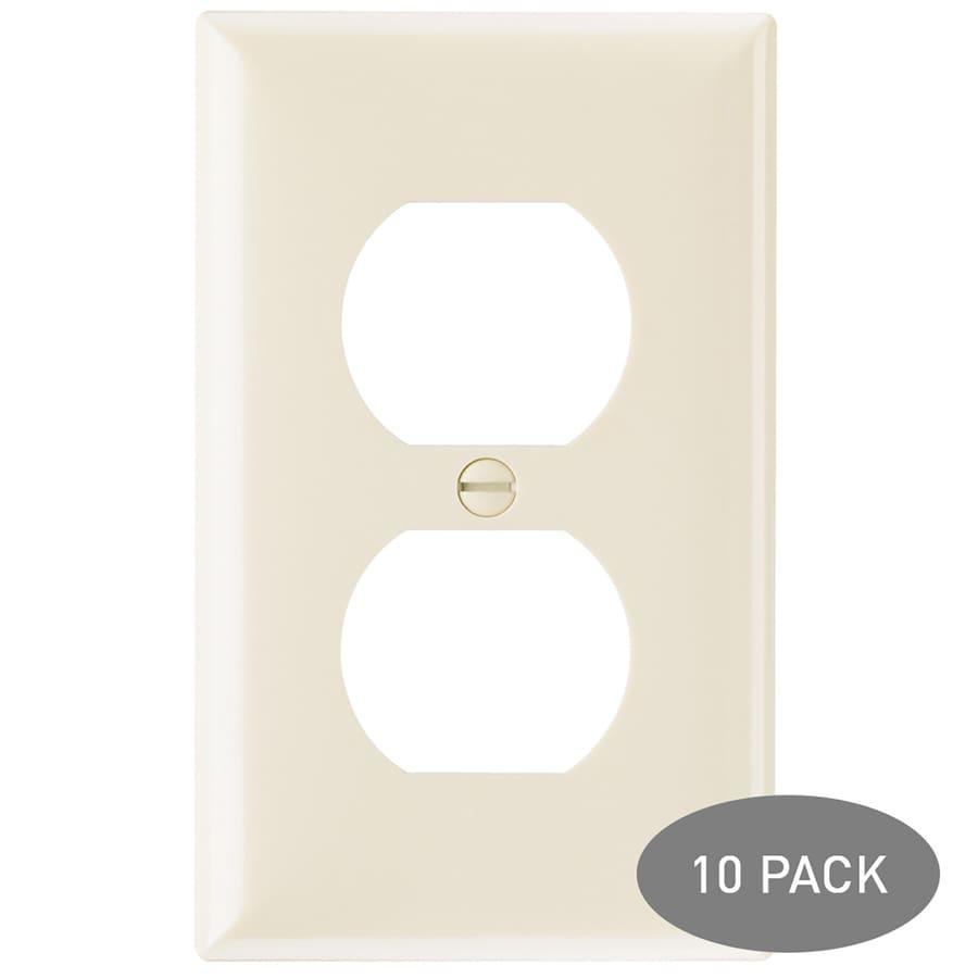 Legrand 1-Gang Light Almond Single Duplex Wall Plate